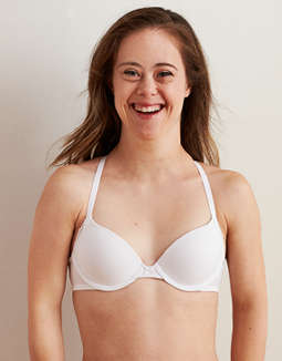Aerie Real Happy Demi Push Up Bra