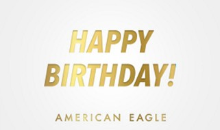 AE Happy Birthday Gift Card