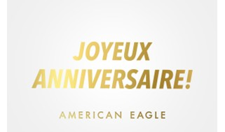 AE Happy Birthday Gift Card (French)