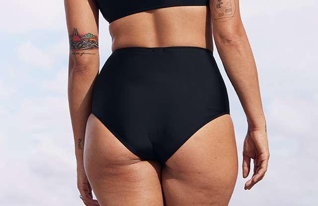 db5d35ea61f40 High Waisted Bikini Bottom Swimwear