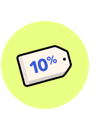 10 percent off tag