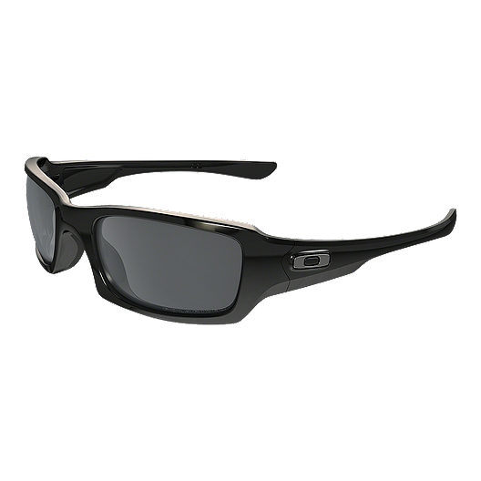 aa3d90bba0f4b Oakley Fives Squared Polarized Sunglasses - Polished Black with Black  Iridium Lenses