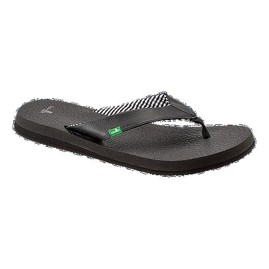 a594740f5157 Sanuk Women s Yoga Mat Flip Flops - Black