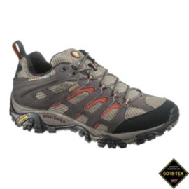 Merrell Men's Moab GTX Wide Hiking Shoes - Brown/Grey
