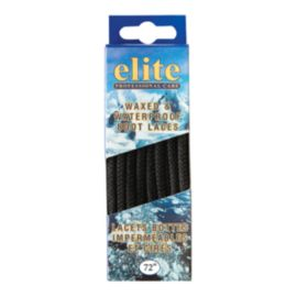 Elite Wax & Waterproof 72 Inch Shoe Laces - Black