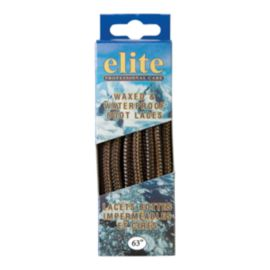 Elite Wax & Waterproof 63 Inch Shoe Laces - Black / Brown
