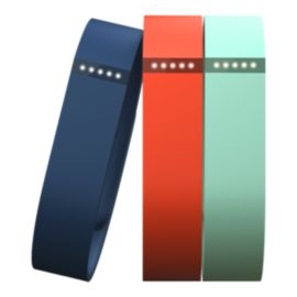 Fitbit Flex Wristbands - Teal/Navy/Tangerine Large