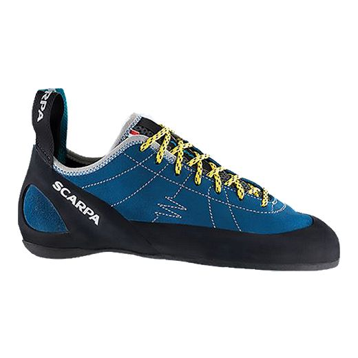 Scarpa Men's Helix Rock Climbing Shoes - Blue/Yellow