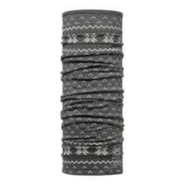 Buff Printed Merino Wool Neck Tube