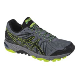 ASICS Men's Gel Fuji Trabuco 3 Trail Running Shoes - Grey/Black/Lime Green