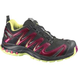 Salomon Women's XA Pro 3D Ultra 3 GTX Trail-Running Shoes - Black/Purple/Lime Green