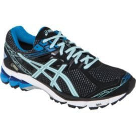 ASICS Women's GT 1000 3 GTX Running Shoes - Black/Ice Blue