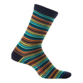 Icebreaker Women's Lifestyle Ultra Light 3/4 Crew Stripe Tease Socks