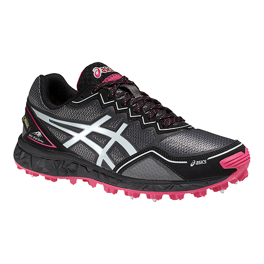 8fe04052 ASICS Women's Gel Fuji Setsu GTX Trail Running Shoes - Black/Pink/Silver -
