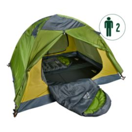 McKINLEY Trail 2 Person Camp Bundle - Tent, Sleeping Bags & Mats