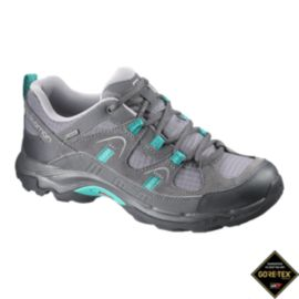 Salomon Women's Loma GTX Hiking Shoes - Grey/Peacock