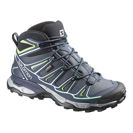 411c3be9 Salomon Women's X Ultra Mid 2 GTX Day Hiking Boots - Blue/Green ...