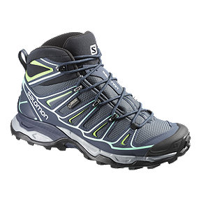 Salomon Women's X Ultra Mid 2 GTX Day Hiking Boots - Blue/Green