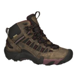 Keen Women's Alamosa Mid Waterproof Day Hiking Boots - Black Olive