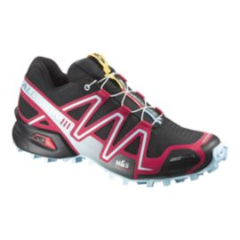 Salomon Women's SpeedCross 3 ClimaShield Trail Running Shoes - Black/Pink/Light Blue