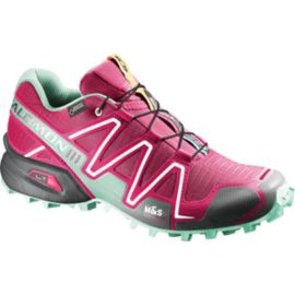Salomon Women's SpeedCross 3 GTX Trail Running Shoes - Pink/Teal/Black