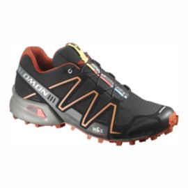 Salomon Men's SpeedCross 3 Trail Running Shoes - Black/Orange/Grey
