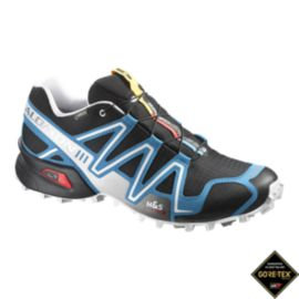 Salomon Men's SpeedCross 3 GTX Trail Running Shoes - Black/White/Blue