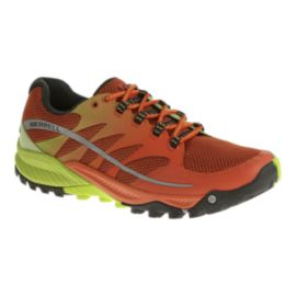 Merrell Men's All Out Charge Trail Running Shoes - Orange/Lime