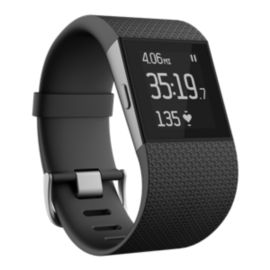 Fitbit Surge Fitness Tracker Super Watch - Black Large