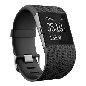 Fitbit Surge Fitness Tracker Super Watch -Black Small