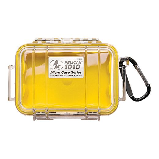 Pelican 1010 Micro Case - Yellow/Clear