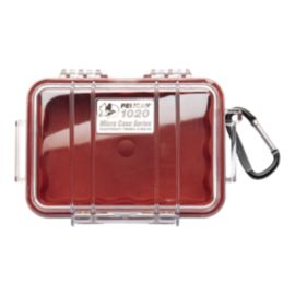 Pelican 1020 Micro Case - Red/Clear