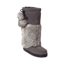 Manitobah Women's Snowy Owl Mukluk Winter Boots - Charcoal