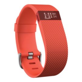 Fitbit Charge HR Fitness Tracker - Tangerine Small