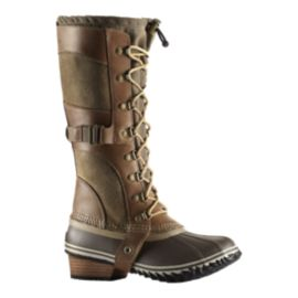 Sorel Women's Conquest Carly Winter Boots - Tan/Flax