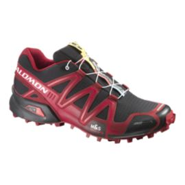 Salomon Men's SpeedCross 3 Trail Running Shoes - Black/Red