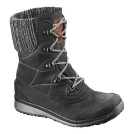 Salomon Women's Hime Leather ClimaShield Waterproof Winter Boots - Grey