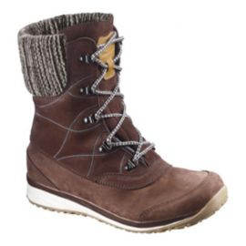 Salomon Women's Hime Leather ClimaShield Waterproof Winter Boots - Brown