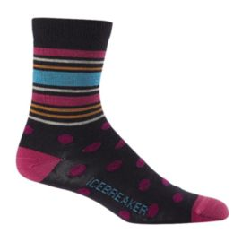 Icebreaker Women's Lifestyle Ultra Light 3/4 Crew Spots Socks