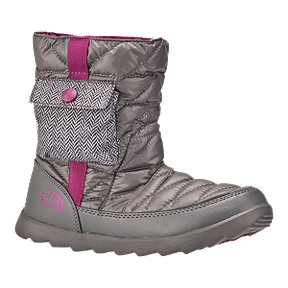 The North Face Women's Thermoball Bootie Winter Boots - Grey/Purple