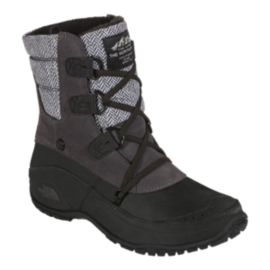 The North Face Women's Nuptse Purna Shortsy Winter Boots - Grey/Black