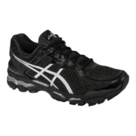 ASICS Men's Gel Kayano 22 Running Shoes - Black/Silver