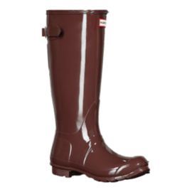 Hunter Women's Original Adjustable Back Rain Boots - Gloss Umber