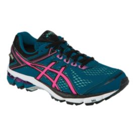 ASICS Women's GT 1000 4 GTX Running Shoes - Blue/Pink/Black