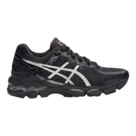 ASICS Women's Gel Kayano 22 Running Shoes - Black/Silver