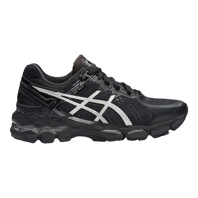 ASICS Women s GEL Kayano 22 Running Shoes - Black Silver  bb326b3356
