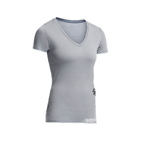 Icebreaker Women's Tech Allium Short Sleeve V-Neck Top