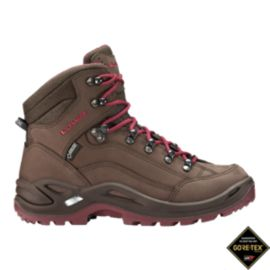 Lowa Women's Renegade Mid GTX Hiking Boots - Brown/Red