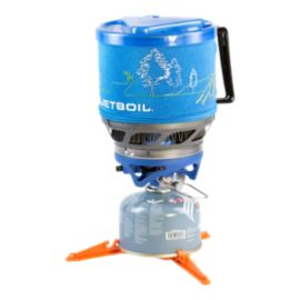 JetBoil MiniMo Stove - Blue with Line Art