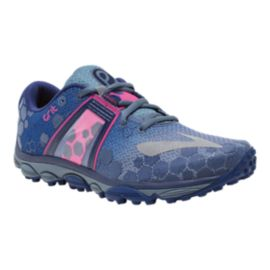 Brooks PureGrit 4 Women's Trail Running Shoes - Blue / Pink